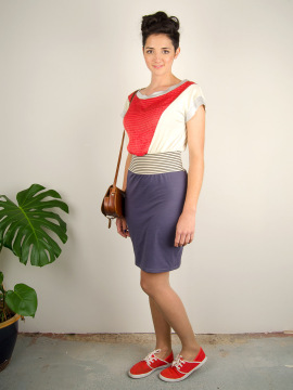 Antiform Folk Dress Coral