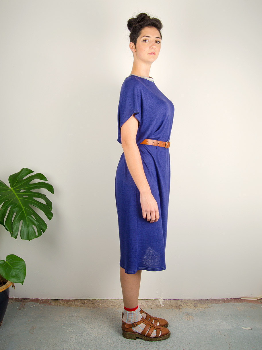 Antiform Linen Slouch Dress in Indigo