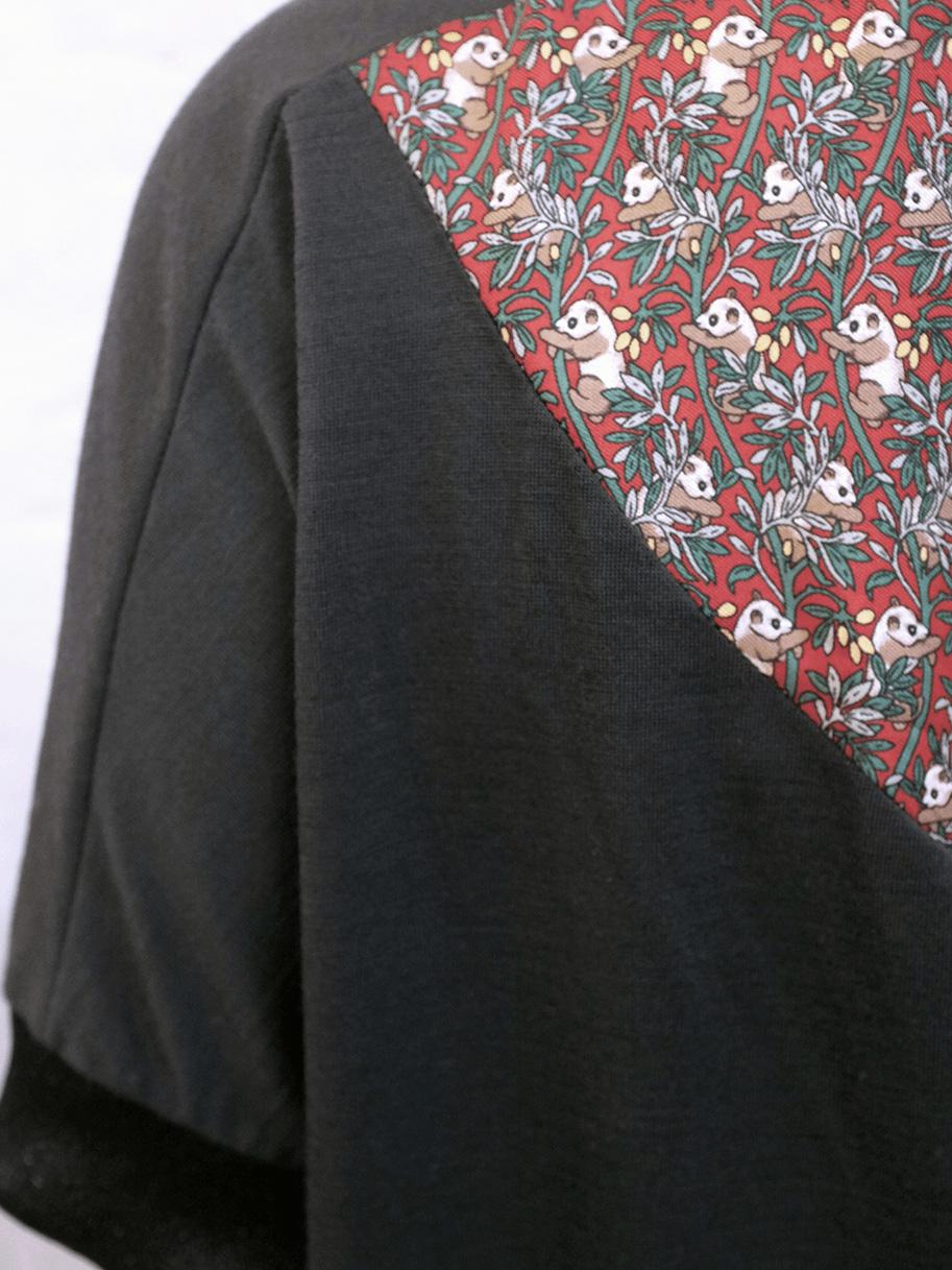 Antiform-Oversized Dress Panda Print