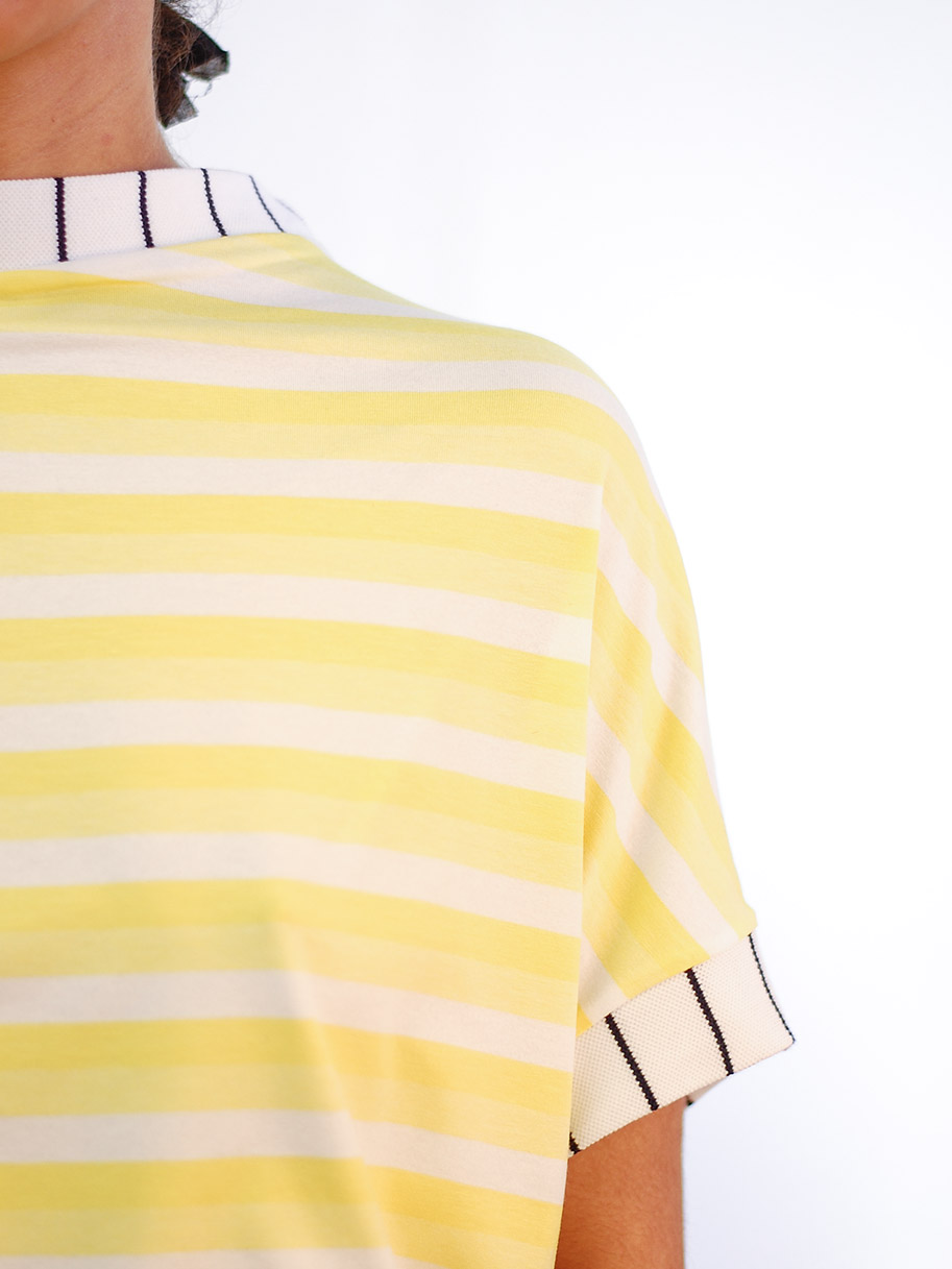 Antiform Oversized T Yellow Stripe