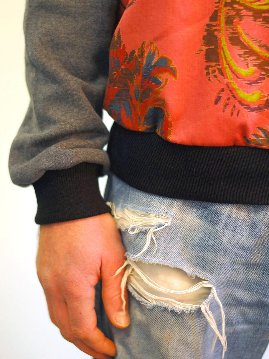 Antiform Unisex Curtain Sweater in Corall