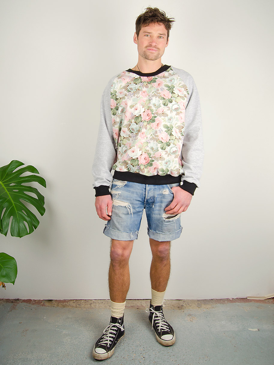 Antiform Unisex Curtain Sweater in Floral