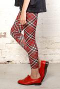 Antiform Leggings in Red Plaid (2)