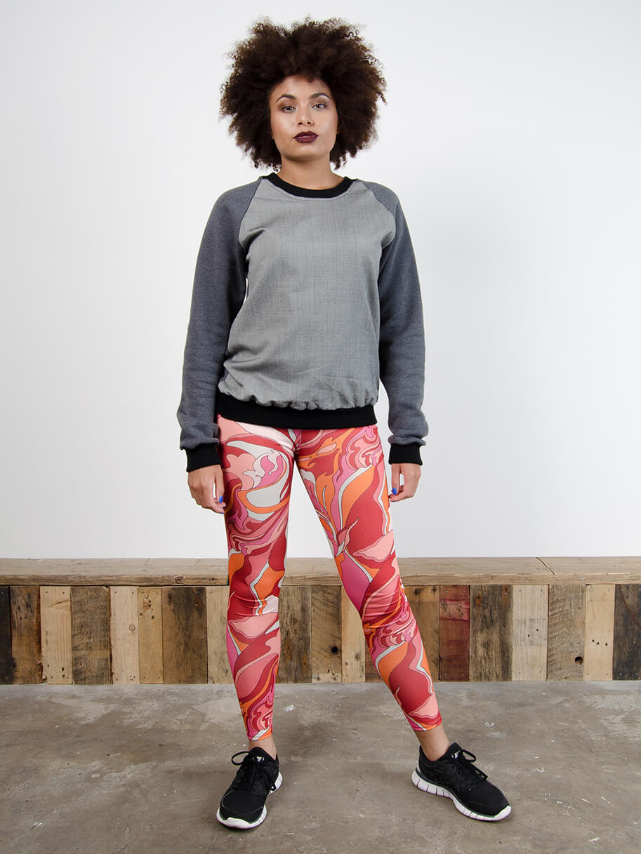 Antiform Leggings in Voodoo Child - Model Image