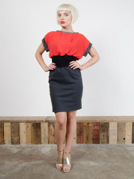 Antiform-Pleat-Dress-Red (1)