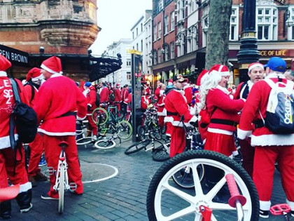 WE LOVE… Lord Whitney's Festive Frivolity | Vintage Party Style | Cycling Santas