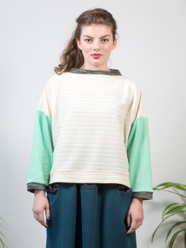 Antiform-Box-Jumper-Cream-Mint (2)