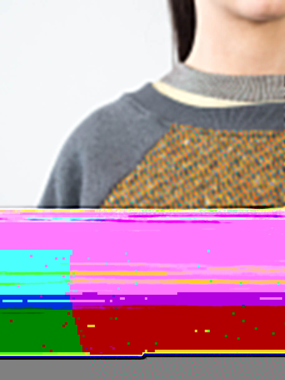 Antiform Panel Unisex Sweater in Blanket - Fabric Detail