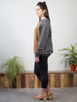 Antiform Panel Unisex Sweater in Blanket - Womens' Side View