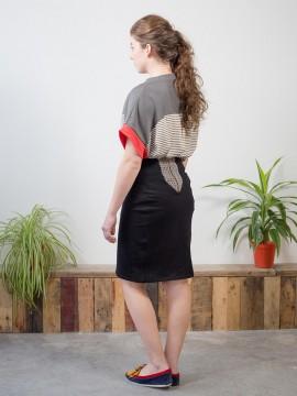 Antiform Panel Pencil Skirt in Mono Crayon