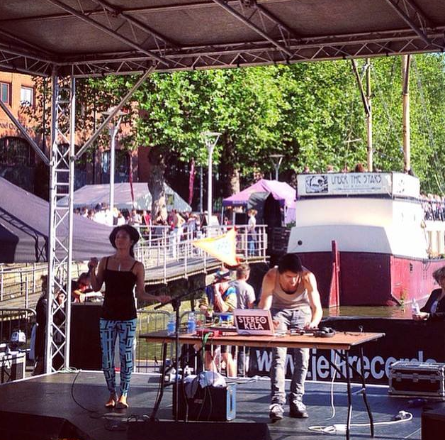 Stereo Kela on-stage at Bristol Harbor Festival